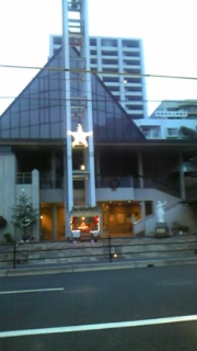 ザビエル教会のクリスマスイルミネーション